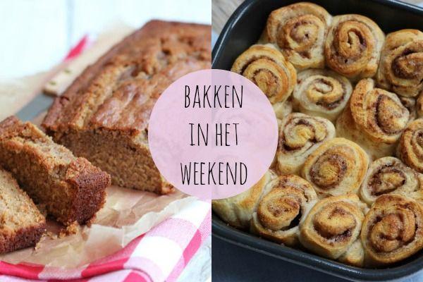 Zin om te bakken in het weekend? Kijk dan gauw verder voor een aantal lekkere en simpele (zoete en hartige!) baksels!