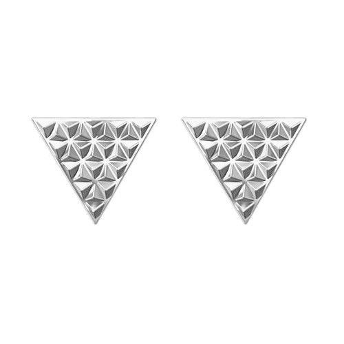 Srebrne kolczyki z trójkątami z kolcami. Cena: 59zł. Kup na: https://laoni.pl/srebrne-kolczyki-trojkaty-z-kolcami #srebrne #kolczyki #trójkąty #kolce #sztyfty