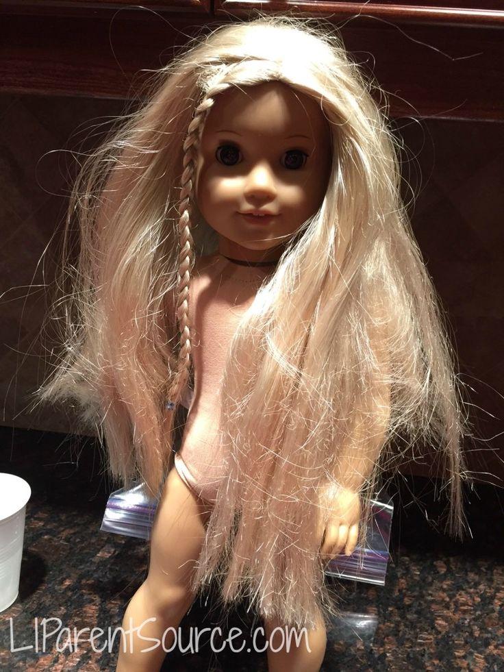 American Girl Doll hair makeover