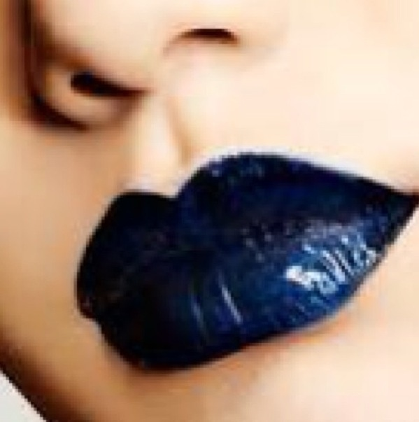 Blue/black lips!