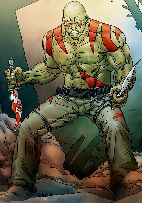 Drax the Destroyer of the Guardians of the Galaxy (Marvel Comics) by Kolins
