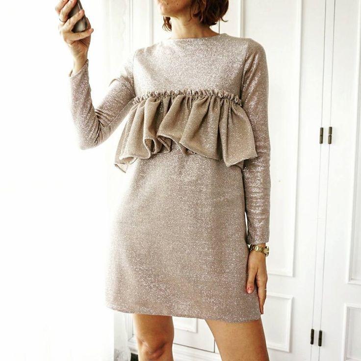 vestido brillo dorado de ChloeMalla en Etsy