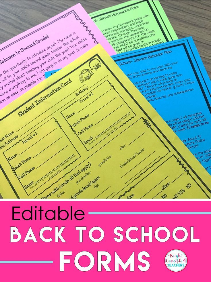 These EDITABLE Back To School Forms will make your life easy at the beginning of the school year. This packet includes: newsletter templates, class lists, student info sheet and more!