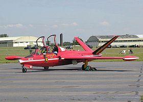 Fouga Magister CM-170R d'entraînement de l'armée de l'air belge.Avion utilisé dans les années 1964-1981