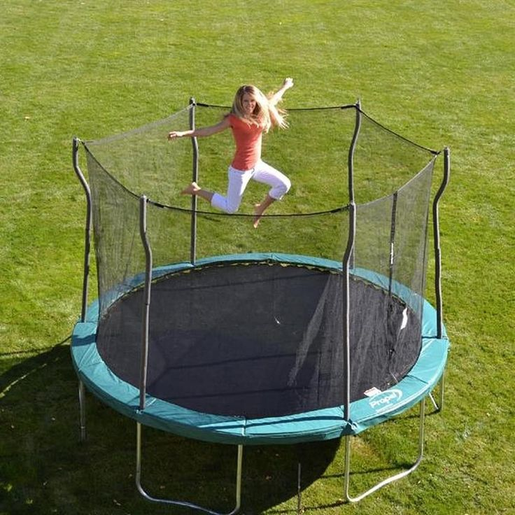 12 Ft. Enclosed Trampoline has an Ultra-Smooth Bounce for Lots of FunThis 12 ft. steel spring enclosed trampoline is your kids' favorite toy, as they bounce around on it after school or on a summer's day for hours! The top quality round trampoline provides the ultimate bounce, with a landing that is smooth and responsive. Its impact-absorbent response system makes for one of the safest, bounciest trampolines available! The 12-foot trampoline has an impressive 72 galvanized steel springs. Fun…