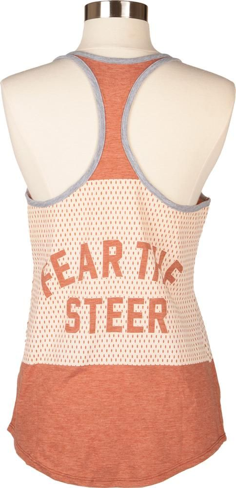 Nike Longhorn Fear The Steer Pulse Mesh Tank Top -- let's make Fear the Steer a thing! Love this tank.