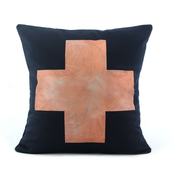 Copper Cross Cushion  www.cloudninecreative.co.nz