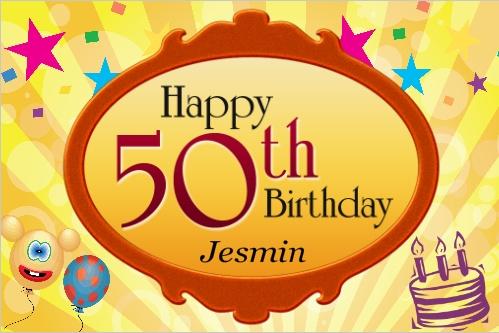 Happy 50th Birthday Banner Birthday Banners Pinterest