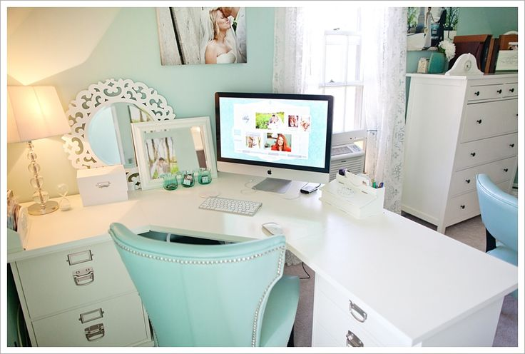 gorgeous home office & great organization tips