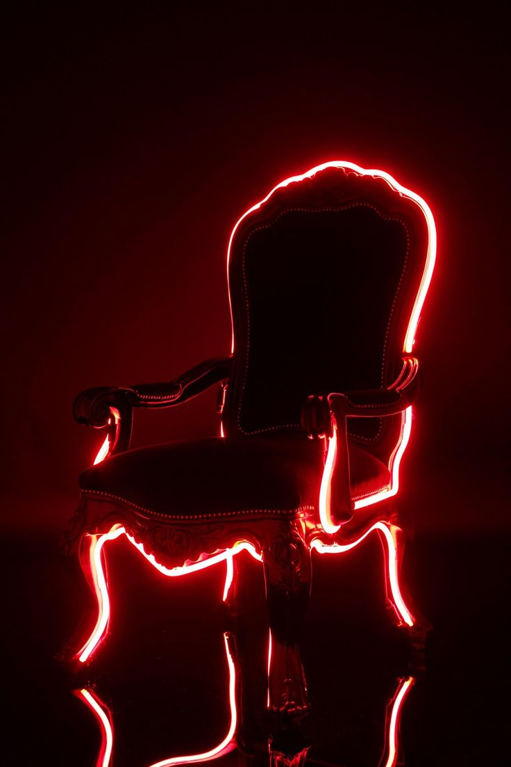 "Red | Rosso | Rouge | Rojo | Rød | 赤 | Vermelho | Maroon | Ruby | Color | Colour | Texture | Form | Pattern | ""Neon Throne."" Neon Upholstery by Lee Broom."