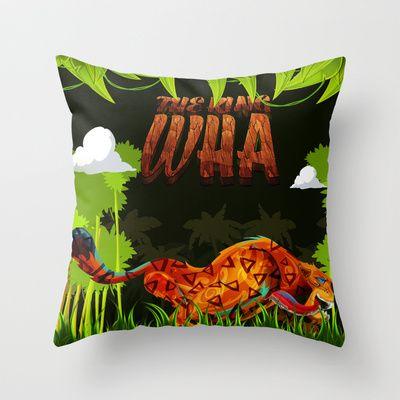 The King Wha Throw Pillow by MikiMikibo - $20.00