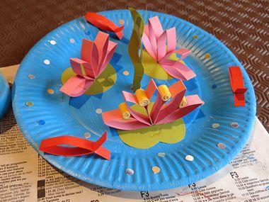 Les 25 meilleures id es de la cat gorie assiettes en - Activite manuelle assiette en carton ...