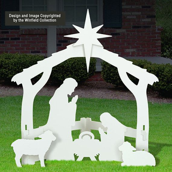 White Outdoor Nativity Scene by FrontYardOriginal on Etsy