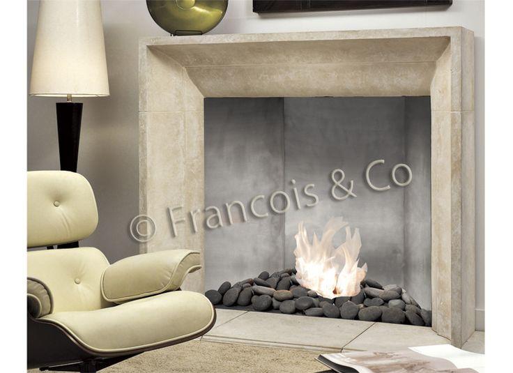 Francois U0026 Co | Contemporary Mantels | Cast Stone Fireplace Surrounds |  Limestone Mantels