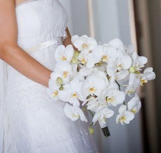 ramo de orquideas blancas