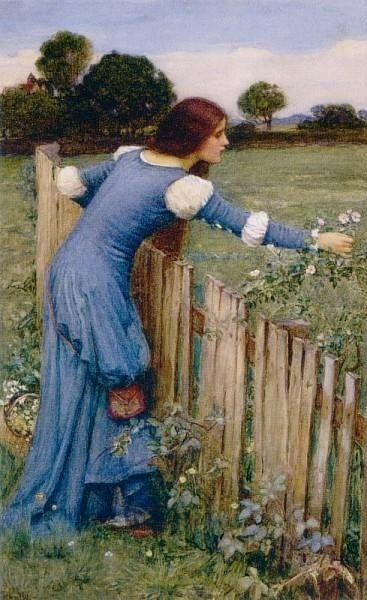 John William Waterhouse -Spring- The Flower Picker 1900-Fine Art Oil Painting Gallery