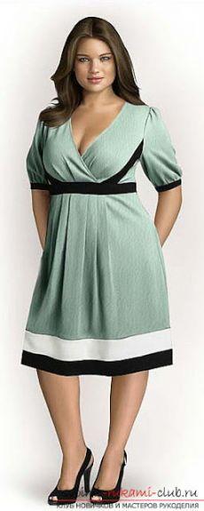 Простые и сложные выкройки платьев для полных