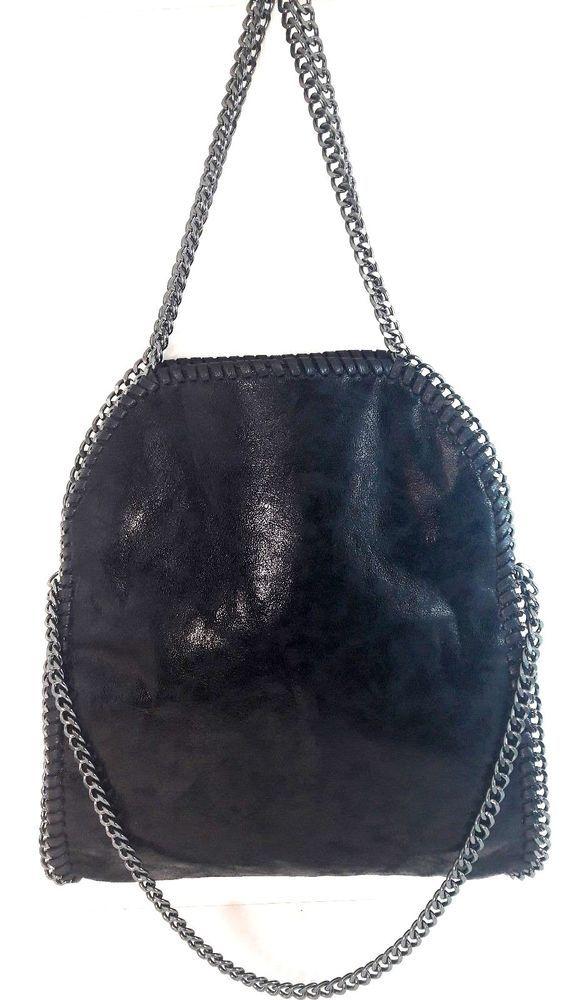 bab0ba8277 Ladies Women s Stella Design Chain detail Tote Handbag Shoulder Bag Medium  Size