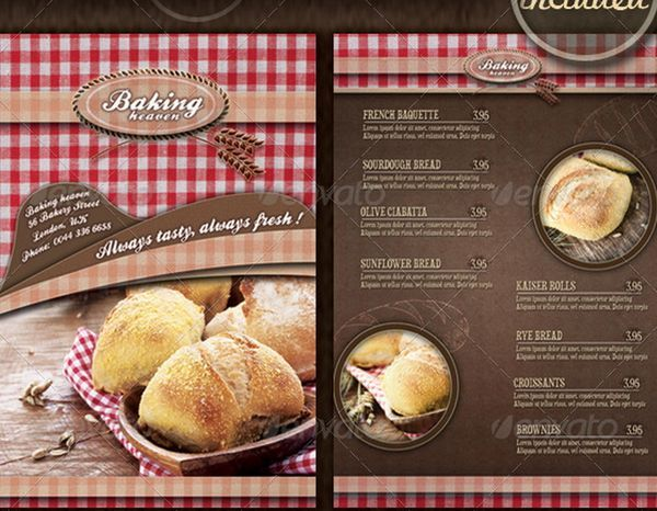 Best Graphic Design Images On Pinterest Advertising - Bakery brochure template free