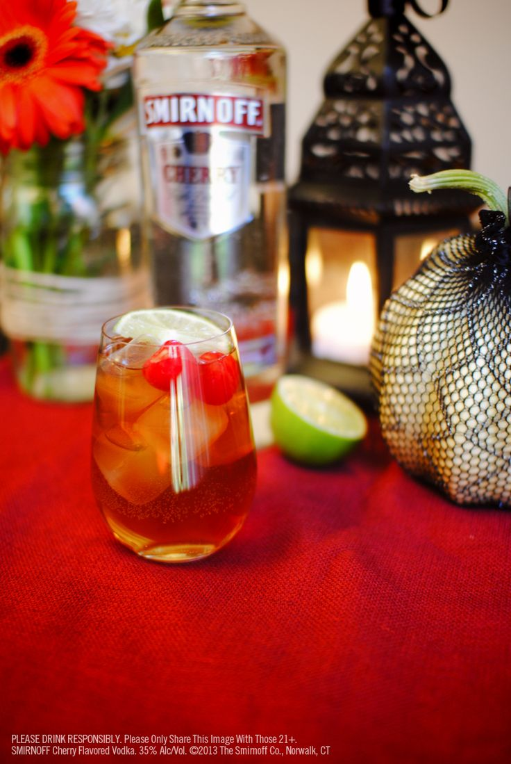 17 best images about smirnoff cherry on pinterest for Flavored vodka mixed drinks