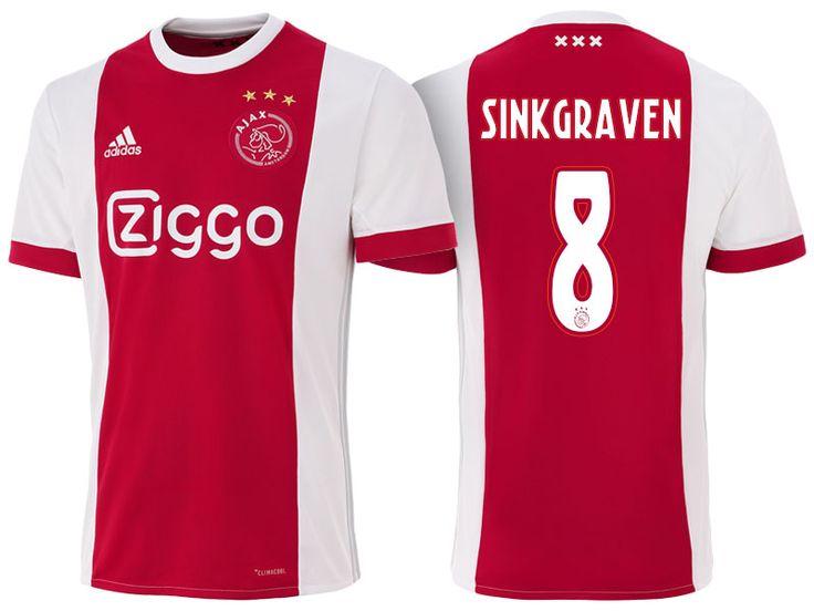 Ajax #8 Daley Sinkgraven 17-18 Home Short Shirt