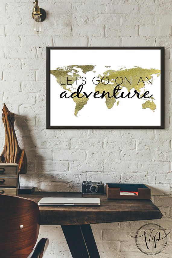 Let's go on an adventure-World Map Printable