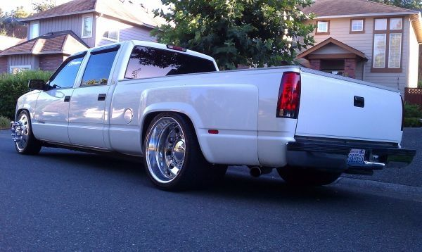 Semi wheels | Crew Cabs & Duelly's | Chevy trucks, Lowered ...