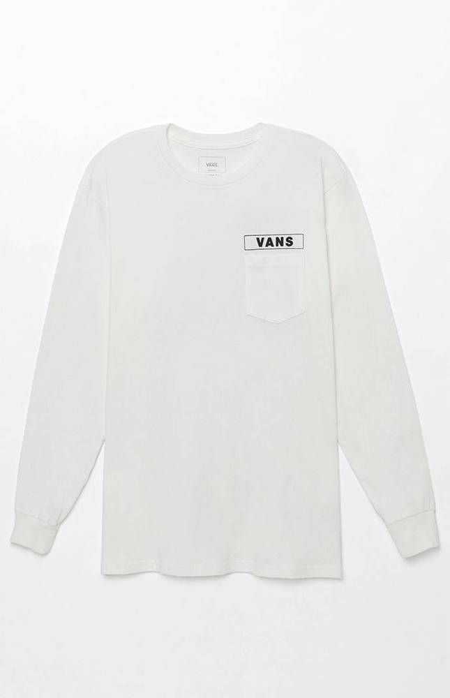 0b3b3c3d82bbfe New Vans Off The Wall Mens White Classic Box Long Sleeve Graphic Tee T-Shirt  S  VANS  GraphicTee