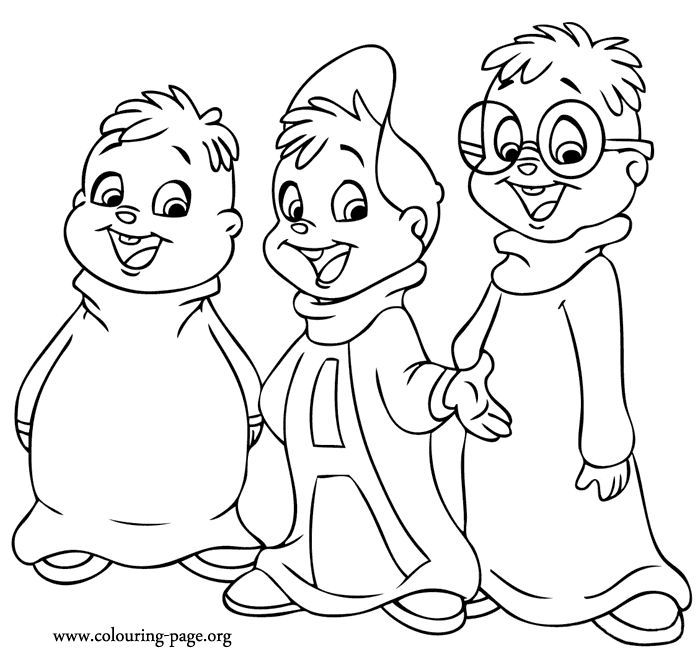 A beautiful coloring page of Alvin with the chipmunks ...