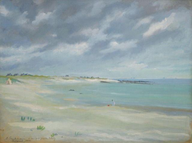 Zinaida Serebriakova - The beach at Lesconil in Brittany (1934)