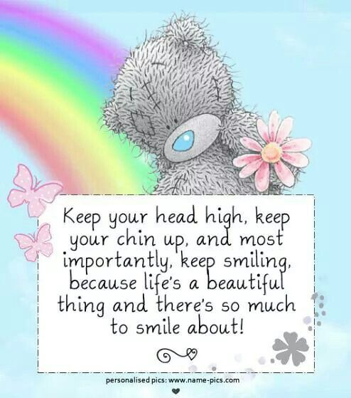 Keep your chin up.so true I know I'm 79