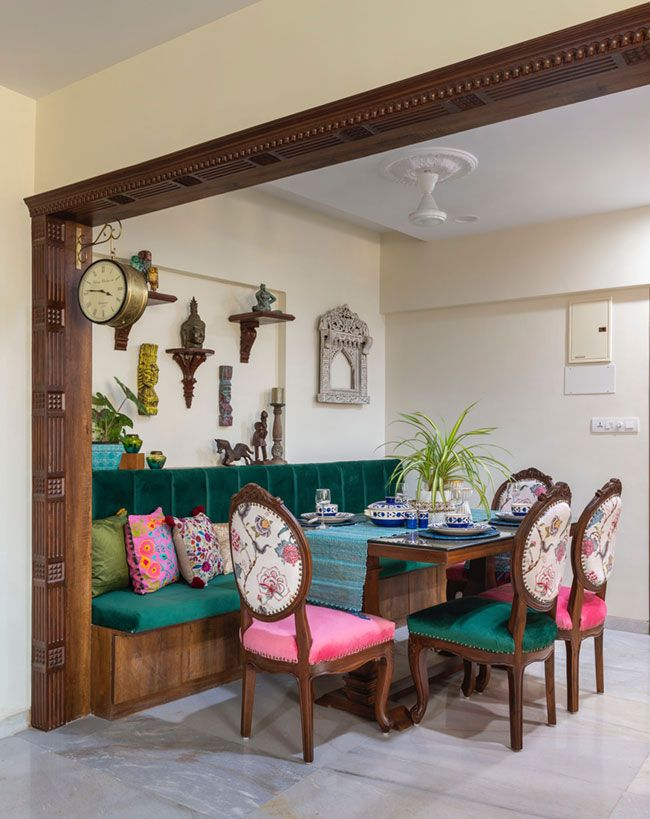 This Mumbai Apartment Is Indian In Spirit And Modern In Outlook Dress Your Home Living Room Decor Apartment Indian Home Decor Indian Home Interior