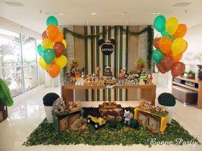 Apaixonada por esta linda Festa Mickey Safari!!Muitas fofuras por esta decoração.Imagens do facebook Bonne Party Festas Infantis.Lindas ideias e muita inspiração.Um fim de semana maravilhosa pa...