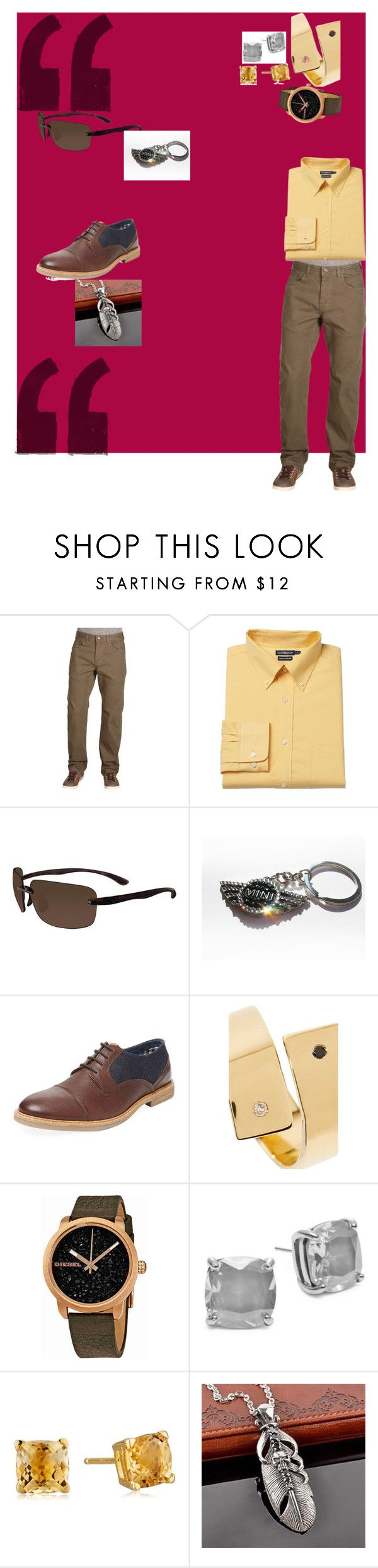 """Claudia's Closet LLC's, Angrogony"" by claudiasclosetllc on Polyvore featuring prAna, Croft & Barrow, Visualites, Ben Sherman, Elizabeth and James, Diesel, Kate Spade and Trend Cool"