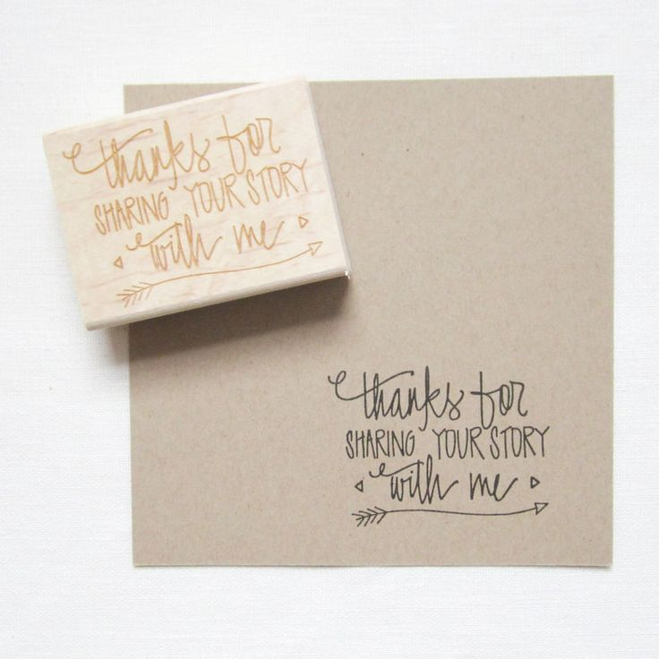 Photographer's Thank You Stamp - photography branding and packaging But for wedding thank yous.