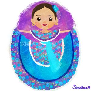 México colores y diseños de sus trajes típicos Sinaloa