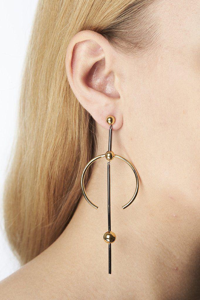 HYDRA MAXI EARRING - GOLD/SILVER - Maria Black