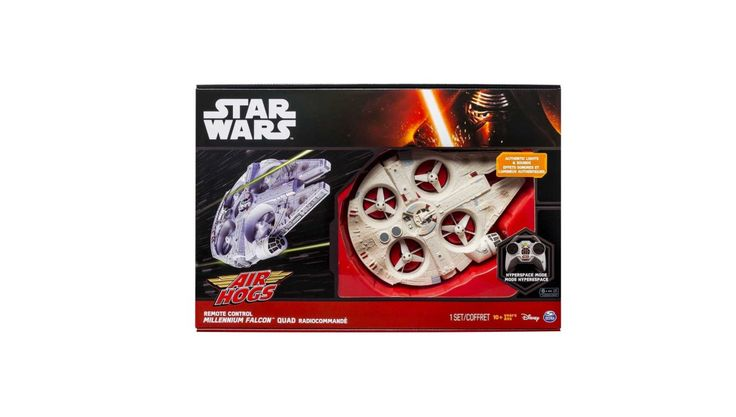 Air Hogs Star Wars Remote Controlled Millennium Falcon Quad Drone for $39.99 at eBay