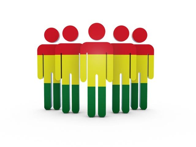 People icon. Flag of Bolivia