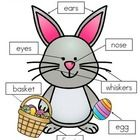 3+ways+to+label+the+Easter+Bunny: -+cut+and+paste+written+labels+on+top+of+words;+ -+cut+and+paste+written+labels+on+blank+labels;+ -+or+write+the+...