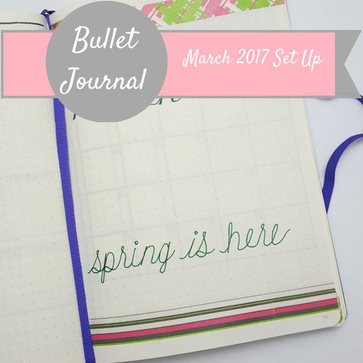 Bullet Journal   March 2017 Set Up   Sheena Lynn Blog