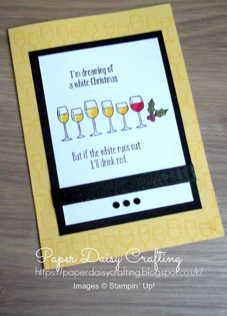 Funny Christmas card with Half Full stamp set from Stampin' Up!