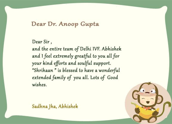Thank giving letter by one of our patients. #happiness #DIFC #babies #experience