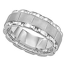 Gorgeous Mens Wedding Ring By Lieberfarb