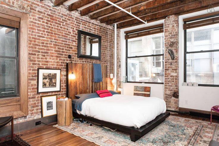 Eclectic Master Bedroom With Handmade Teak Stump Accent Table Hardwood Floors Karastan Spice