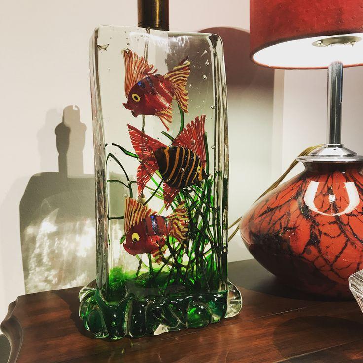 Wmf lamp and cenedese aquarium lamp murano