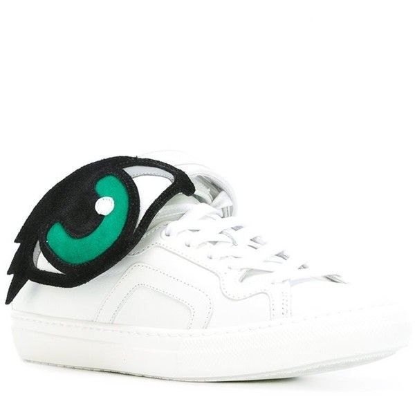 Pierre Hardy 'Oh Roy' sneakers ($302) ❤ liked on Polyvore featuring shoes, sneakers, leather footwear, leather shoes, white leather sneakers, pierre hardy sneakers and pierre hardy shoes