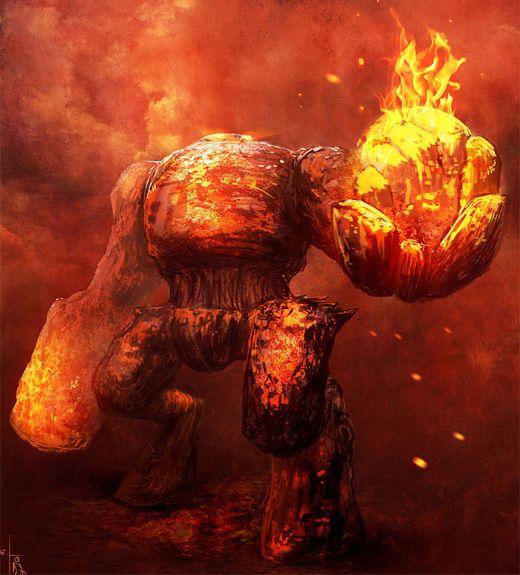 30 Blazing Fire Colossus Illustrations for Inspiration on http://naldzgraphics.net