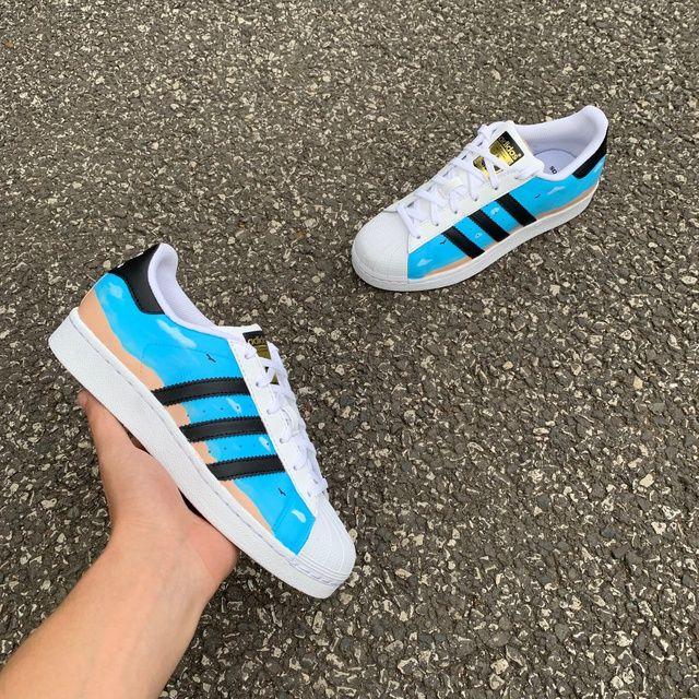 Adidas Superstar - Beach Day by D Rob Customs   Adidas superstar ...