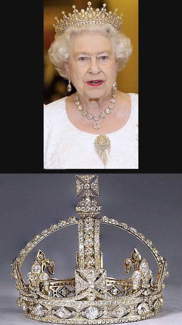 Palácio de Buckingham promove exposição das joias da coroa britânica em comemoração do jubileu da rainha Elizabeth II - Cleon Gostinski - Fonte Mail Online
